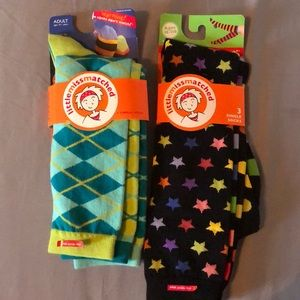 Knee high sock pack Little Miss Matched